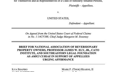 Amicus Brief inHardy v. United StatesTrails Act Taking Case