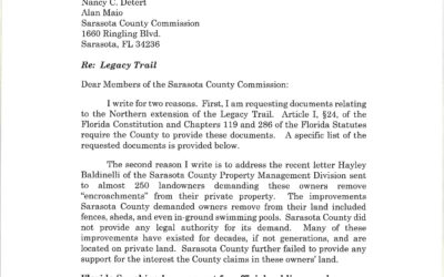 Sarasota, Florida Legacy Trail Case : ALERT