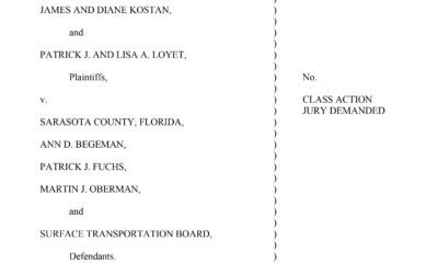 "True North Law Files Federal Lawsuit on behalf of landowners to stop Sarasota County from removing Legacy Trail ""Encroachments"""